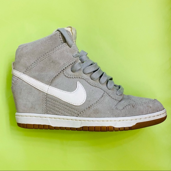 Nike Dunk Sky Hi Grey Suede Women's 7.5
